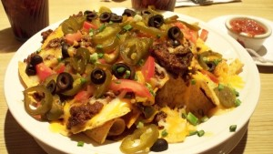 Well-layered nachos